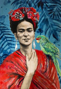 Frida Kahlo is considered one of the greatest artists of Mexico who began painting self-portraits mostly after it was severely injured in a bus accident. Frida Kahlo Artwork, Frida Paintings, Frida Kahlo Portraits, Frida Art, Diego Rivera, Freda Carlo, L'art Du Portrait, Ledoux, Mexico Art