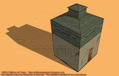 Otro ángulo del fuerte colonial en la trocha de Cuba http://edificiosdepapel.blogspot.com.es/2015/01/maqueta-de-papel-1527-fuerte-3-trochas-cuba.html