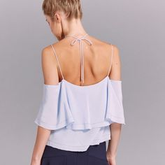 Back view of Michela #silk #blouse #ootd #instastyle #california #designer #newromance #flouncy #top