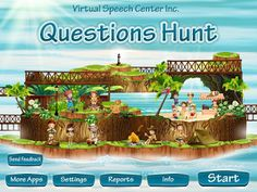 Speech Time Fun: Questions Hunt (APP REVIEW) Pinned by SOS Inc. Resources. Follow all our boards at pinterest.com/sostherapy/ for therapy resources.
