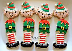 Look at these elves!....even MORE interesting is what kind of shape cookie cutters she used for them!