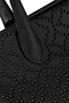 Alaïa - Doctors Mini Embellished Leather Shoulder Bag - Black - one size