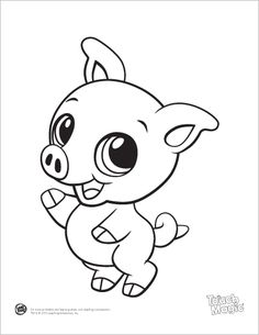 learning friends pig baby animal coloring printable from leapfrog the learning friends prepare kids for - Drawings For Children To Color