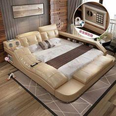Beds of the future: 10 modern ideas that are driving the Internet crazy. which modern internet ideas future driving crazy Space Saving Furniture, New Furniture, Furniture Design, Furniture Ideas, Modern Bedroom Design, Bed Design, Futuristic Bed, Camas King, Multifunctional Furniture