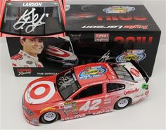 Kyle Larson Diecast 42 Target Rookie of the Year 1/24 2014 Autographed  - $106.99