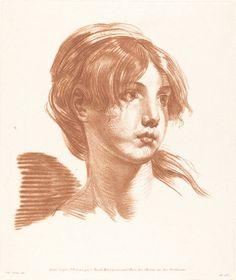 J.-B. Greuze. Head of a girl. Ca. 1777. National Gallery of Art, Washington.