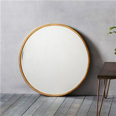 Higgins Metal Frame Round Wall Mirror, 80cm, Antique Gold - Mirrors