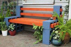 Découvrez des idées créatives à faire soi-même qui permettent de meubler et décorer nos espaces outdoor en utilisant des parpaings et blocs de construction.