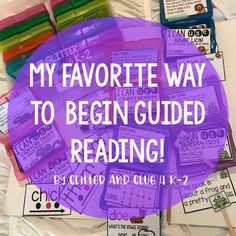 Hello friends! What an important time of the day guided reading is! It can be a difficult time to plan for, but it is so important t...