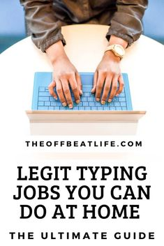 Stop struggling to find work and start getting paid for typing online. Because yes, there are plenty of legitimate typing jobs from home that you can start doing today. #remotework #remotejobs #typingjobs #onlinework #onlinejobs #digitalnomad #bestonlinejobs