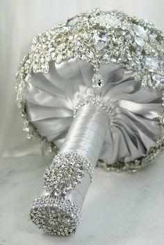 44 best Bouquet handles images on Pinterest | Bridal bouquets ...