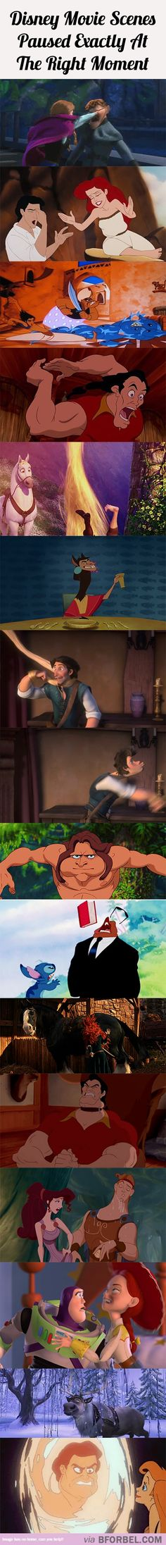 16 Disney Movie Scenes Paused At Exactly The Right Moment…