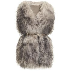 Pinghe Lila Mongolian Lamb Fur Gilet ($1,359) ❤ liked on Polyvore featuring outerwear, vests, jackets, coats, fur, fur gilet, brown waistcoat, fur waistcoat, brown vest and sleeveless vest