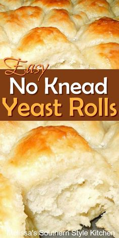 Breads 261842165824443165 - Bakers of all skill levels can make these fluffy No Knead Yeast Rolls Source by slowroasted Biscuit Bread, Biscuit Recipe, Homemade Rolls, Homemade Breads, Tasty Bread Recipe, All Bran, No Knead Bread, No Yeast Bread, Yeast Bread Recipes
