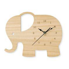 Elephant Wooden Clock AUD100 | downthatlittlelane
