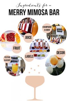 Merry Mimosa Bar // fun idea for brunches throughout the year #holidays #party