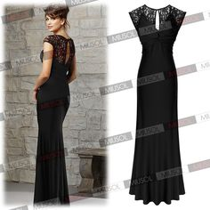 Womens Formal Prom Bridesmaid Dresses Lace Party Bodycon Evening Gowns Dress   eBay