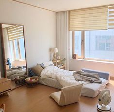 27 Cute Room Decor For Men College - Room Dekor 2021 Room Design Bedroom, Room Ideas Bedroom, Small Room Bedroom, Bedroom Decor, One Bedroom Apartment, Apartment Interior, Room Interior, Minimalist Room, Minimalist Studio Apartment