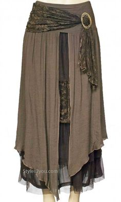 Antique Belted Skirt In Many colors