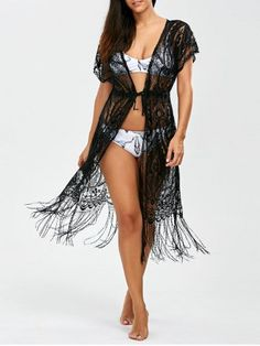 GET $50 NOW | Join RoseGal: Get YOUR $50 NOW!http://www.rosegal.com/cover-ups-kaftans/fringed-openwork-beach-cover-up-1095083.html?seid=4514413rg1095083
