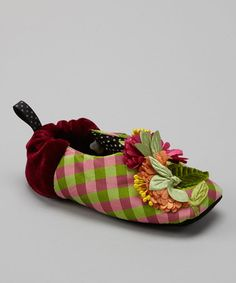 Take a look at this Green Plaid Chloe Slipper - Kids by Goody Goody on #zulily today!