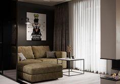 "Apartment in Kharkiv ZHK ""Dom na Sokol'nikakh"" - Dezign Ark (Beta) Home Room Design, Dream Home Design, Elephant Home Decor, Living Room Tv Unit Designs, 3d Interior Design, Bathroom Design Luxury, Cool House Designs, Modern Room, Apartment Design"