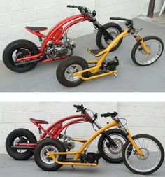 motorcycles and scooter Mini Chopper Motorcycle, Mini Motorbike, Motorbike Design, Scooter Motorcycle, Chopper Bike, Moto Bike, Cruiser Bicycle, Motorized Bicycle, Diy Go Kart