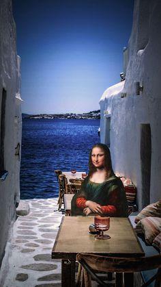 Mona Lisa Drawing, Witty Memes, Surrealist Collage, La Madone, Mona Lisa Parody, Mona Lisa Smile, Funky Art, Cute Disney Wallpaper, Aesthetic Drawing