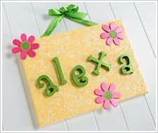 name canvas.. perfect baby gift