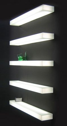 Glas Italia Light-Light Modern Illuminated Wall Mounted Shelf | Stardust Modern Design