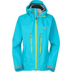 technical #GoreTex rain jacket with tough grip zones on shoulder and hips #NorthFace #RockCreek