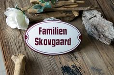 Enamel Name Plate Oval 4.7 x 7.5 by enamelsign on Etsy, $149.00