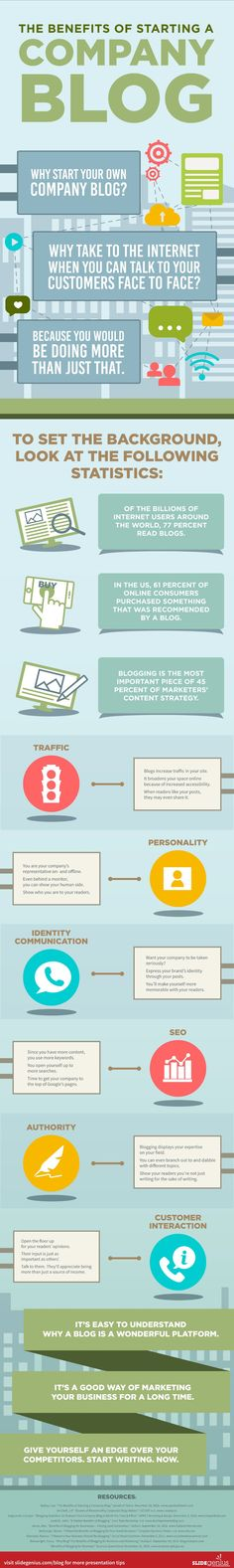 The Undeniable Benefits of Starting a Company Blog Today #Infographic
