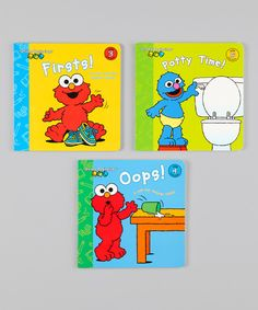 Look at this Sesame Beginnings Board Book Set on #zulily today!