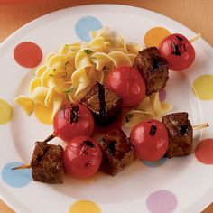 Kid Kebobs: This Saturday-night treat is quick to cook. All you need for sides are buttered egg noodles and salad or green beans.