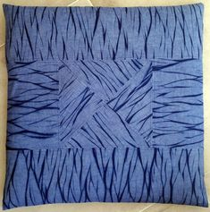 The scraps are getting smaller, but I was still able to piece something together. Bohemian Living, Bohemian Decor, Textile Patterns, Textile Design, Floor Cushions, Shades Of Blue, Indigo, Scrap, Fabric