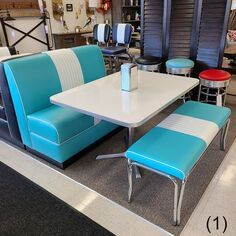 COOL Retro Dinettes | 1950's Style | Canadian Made Chrome Sets Retro Kitchen Tables, Retro Dining Rooms, Retro Dining Table, Kitchen Banquette, Retro Furniture, Furniture Sale, Kitchen Furniture, Outdoor Furniture Sets, Outdoor Decor