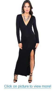 Another great find on Black Side-Slit Mystery Maxi Dress - Women by Clothes Envy Style Wish, My Style, Business Outfits Women, Business Clothes, Dresses For Work, Formal Dresses, Online Clothing Stores, I Love Fashion, Cold Shoulder Dress