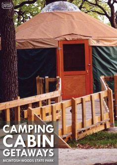 Take a quick weekend getaway with the unique camping experience of staying in a yurt at McIntosh Woods State Park | Iowa DNR