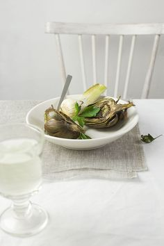 roasted artichokes with fresh garlic