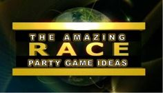 Amazing Race Party Ideas for Pit stops, challenges, clues, and supplies. Amazing Race Challenges, Amazing Race Games, Amazing Race Party, Teen Girl Games, Games For Girls, Sleepover Games, Kids Party Games, Game Party, Fun Games