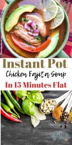 Are you looking for a quick and delish soup recipe for your instant pot? Well our Chicken Fajita soup can be done in 15 minutes flat and it will make your family smile. Instant Pot Chicken Soup Recipe, Chicken Soup Recipes, Chicken Meals, Healthy Chicken, Healthy Recipes, Mexican Food Recipes, Crockpot Recipes, Healthy Soups, Blender Recipes