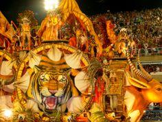 Carnival in Sambadrome - Rio de Janeiro, Brazil
