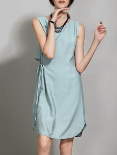 Shop Shirred Viscose Work Shift Sleeveless Midi Dress Online. The world's most-coveted and unique  designer apparel - Sexyplus everyday.