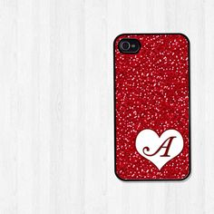 Personalized iPhone 4 Case iPhone 5 Case Red Glitter by BeeCovered, $16.95