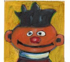 Ernie: Fisher Price Little People Hand Touched Print by MeredithsPaintings on Etsy