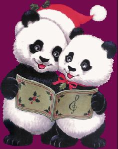 Animated Gifs of Christmas Bears - 1000 Gifs Teddy Bear Cartoon, Cute Cartoon Animals, Cute Teddy Bears, Cute Animals, Baby Animals, Panda Wallpaper Iphone, Panda Wallpapers, Christmas Panda, Christmas Animals
