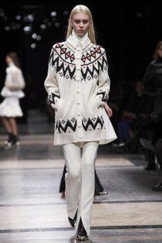 Sacai Ready To Wear Fall Winter 2013 Paris | Typical Winter Sweater Reinvented | #FW2013 #PFW