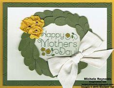 Handmade Mother's Day card using April Paper Pumpkin Lovely Little Wreath Kit…