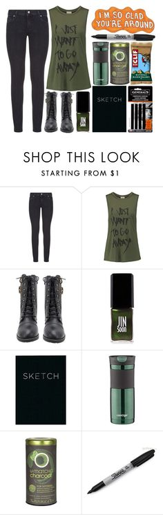 """""""I wanted to leave, but I'm glad I stayed."""" by shadow13goddess101 on Polyvore featuring Paige Denim, Haute Hippie, JINsoon, Piccadilly, Contigo and Sharpie"""